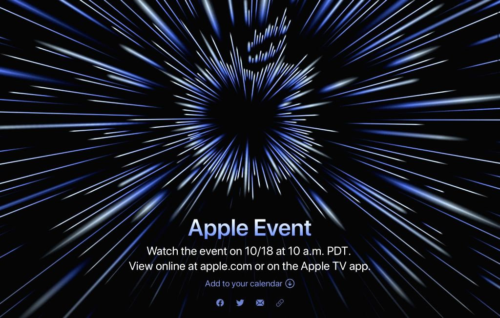 Apple announces a special event for Oct 18.