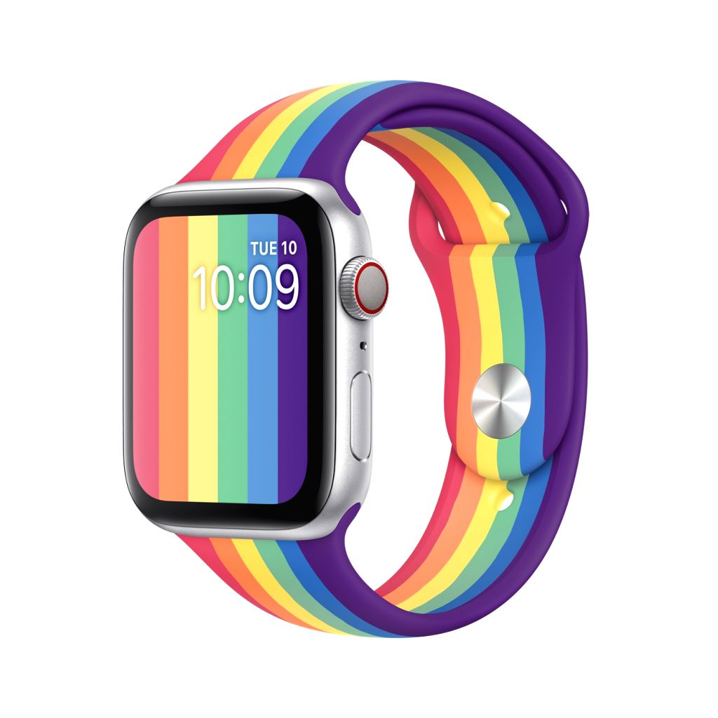 Apple introduces 2 Pride Edition sport bands for Apple Watch.