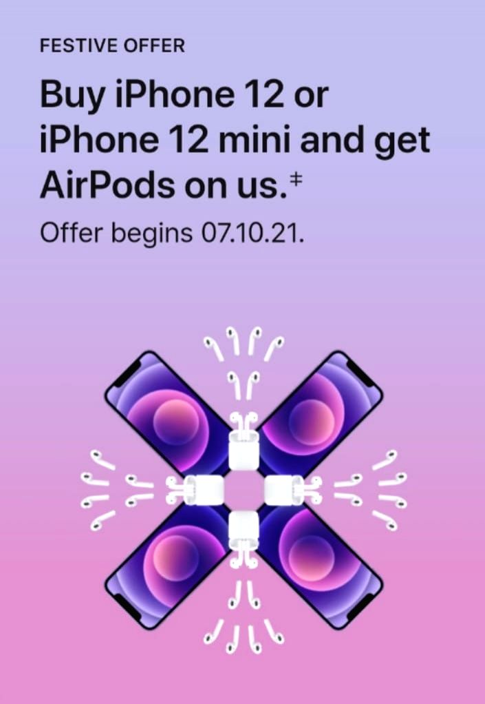 Apple to offer free AirPods with iPhone 12, iPhone 12 mini