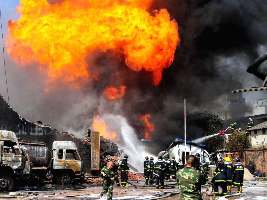 amazon warehouse fire