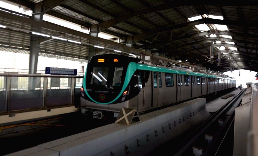 'Aqua Line' rake in Noida. (File Photo: IANS)