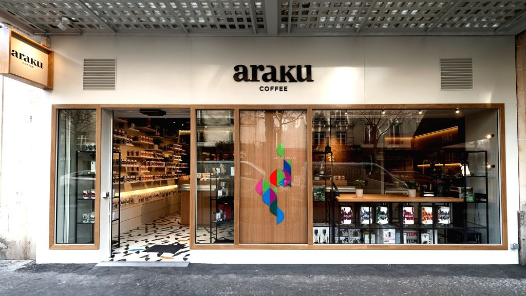 Araku Coffe store in Paris.