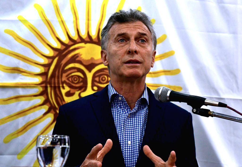 Argentinean President Mauricio Macri. (Xinhua/Candelaria Lagos/TELAM/IANS)