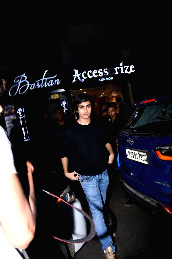 Arhaan Khan, son of actor Arbaaz Khan and actress Malaika Arora seen at Bandra in Mumbai on Aug 25, 2019. - Arbaaz Khan, Arhaan Khan and Malaika Arora