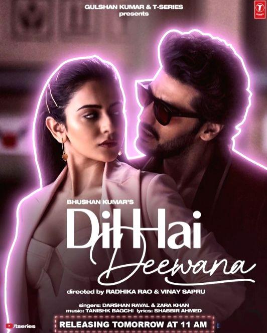 Arjun Kapoor, Rakul Preet Singh co-star in music video 'Dil hai deewana' (Credit : arjun kapoor/instagram) - Arjun Kapoor and Rakul Preet Singh