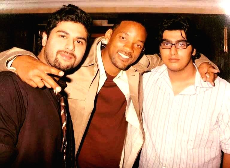 Arjun Kapoor's throwback pic with 'fresh prince' Will Smith. - Arjun Kapoor