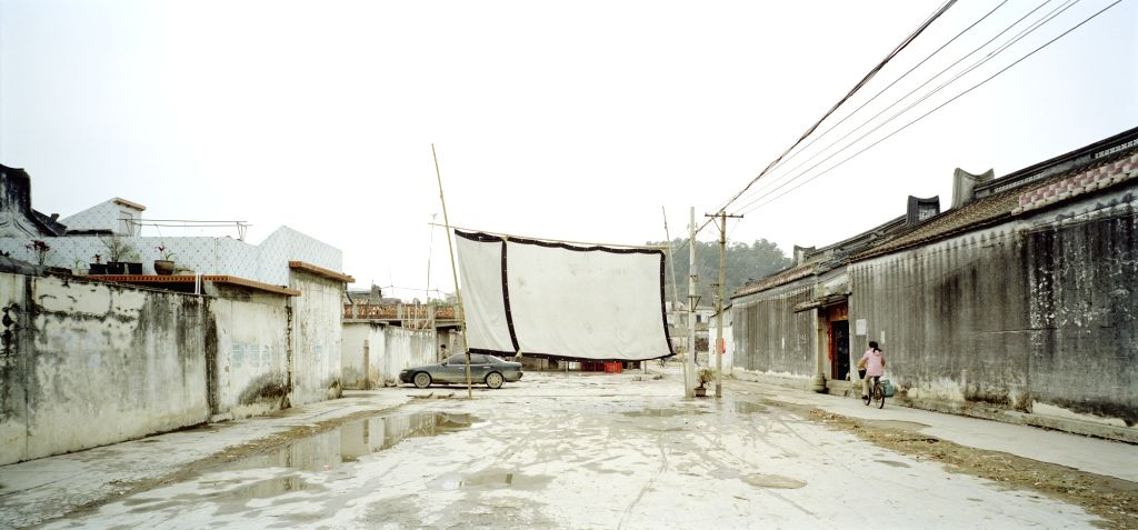"Armin Linke, ""Cinema screen, Guiyu, China"" (2005)"