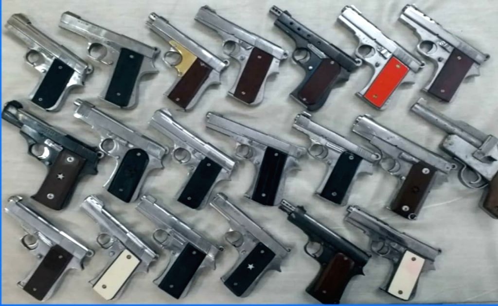 Arms syndicate busted,19 pistols seized