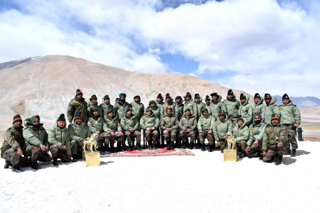 Army chief Gen Bipin Rawat during his visit to Leh in Jammu and Kashmir on March 30, 2018.