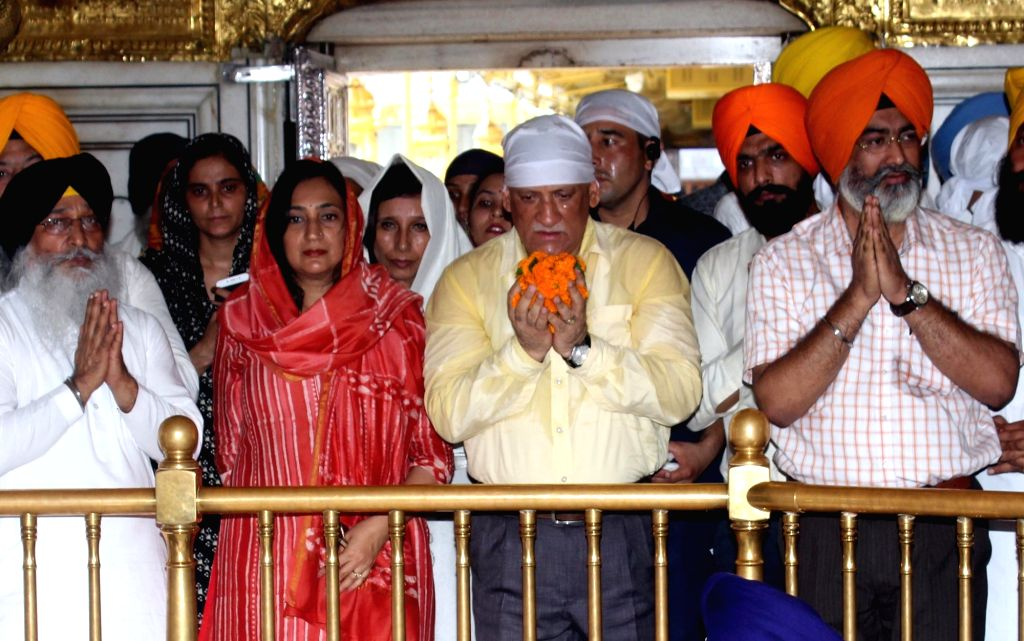 Army chief General Bipin Rawat pays obeisance at the Golden Temple in Amritsar on July 8, 2018.