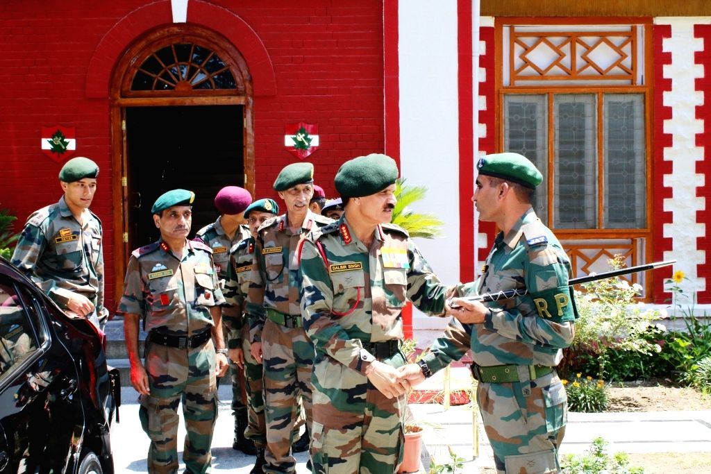 Army Chief General Dalbir Singh visits Chinar Corps base to review security situation in Kashmir valley in Srinagar on July 20, 2016.