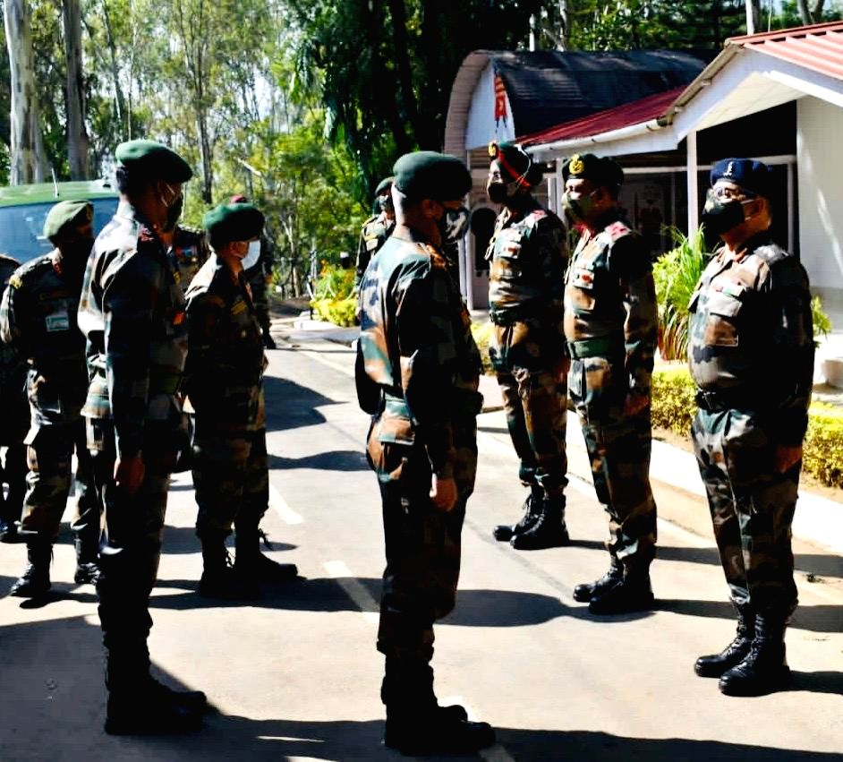 Army chief reviews security situation in NE India.