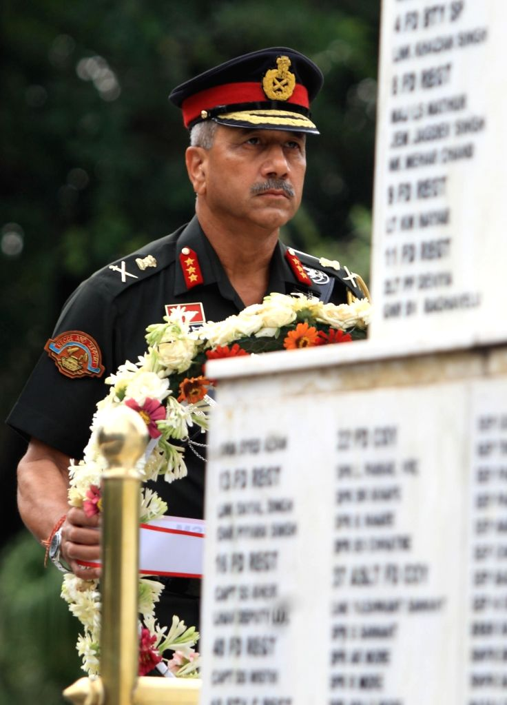 Army Commander, Western Command, Lieutenant General RP Singh lays a wreath to pay homage to the gallant heroes of Western Command at the Veer Smriti in Haryana's Chandi Mandir on Sep 15, ...