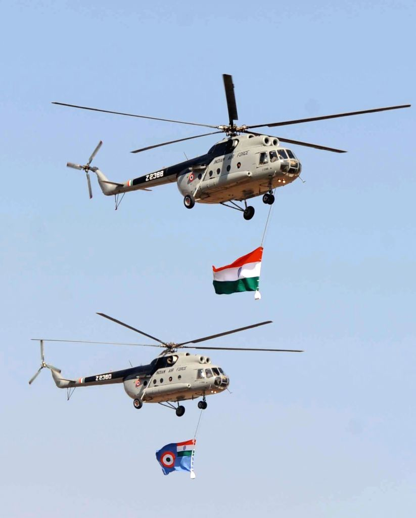 Army  helicopter display during 9th Edition of Aero India Show 2013 at Yelahanka Air force Station in Bengaluru on Wednesday 6th of February 2013.