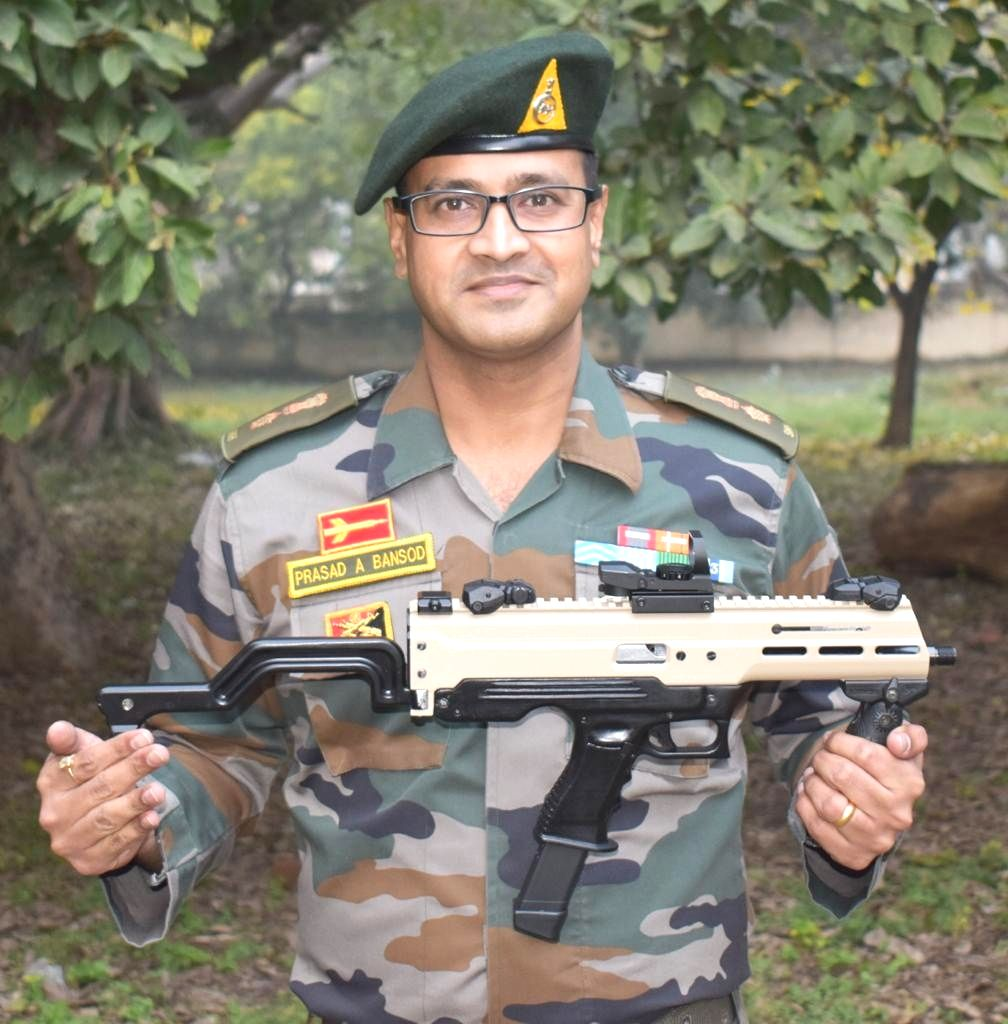 Army officer develops first indigenous 9 mm 'Machine Pistol