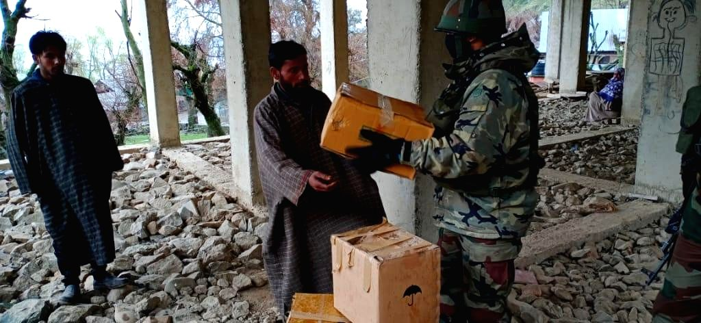 Army provides relief materials to people injured in ceasefire violation