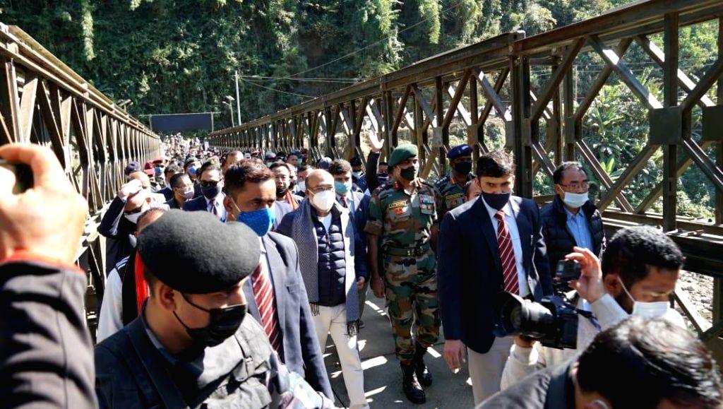 Army rebuilds vital bridge along Manipur's life line linking Assam.