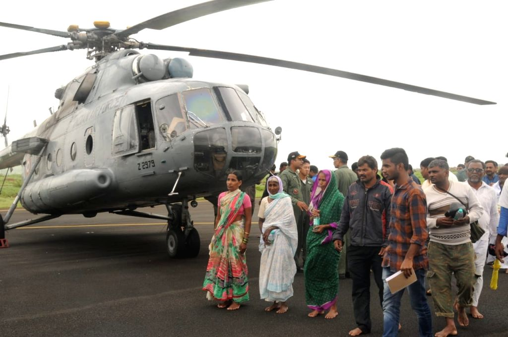 Army team rescue the flood affected areas victims in north Karnataka on Aug 11, 2019.