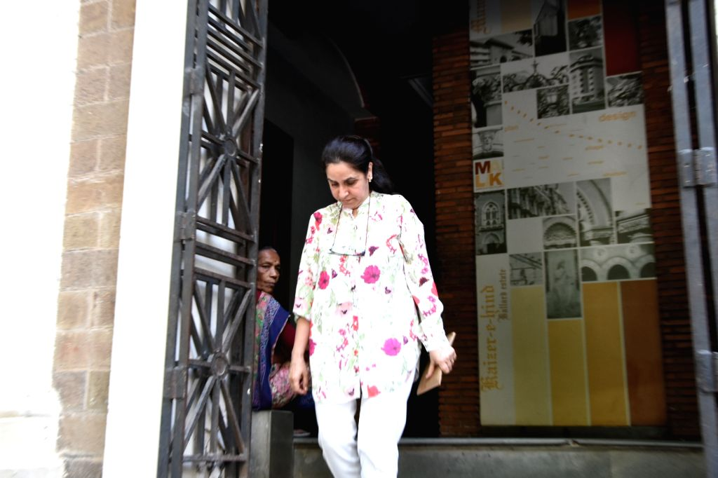 Arrested Yes Bank founder Rana Kapoor's wife Bindu Kapoor arrives to appear before the Enforcement Directorate (ED) in Mumbai on March 18, 2020. The ED had filed a fresh case of money ... - Bindu Kapoor
