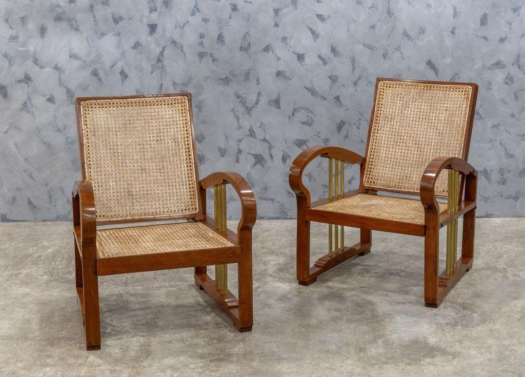 Art-deco lounge chairs.