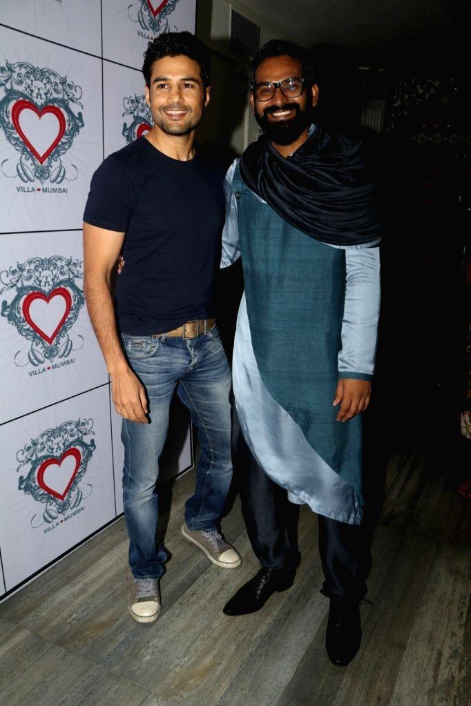 Art director Saini Johray and actor Rajeev Khandelwal during the birthday celebrations of art director Saini Johray in Mumbai on June 28, 2016. - Saini Johray