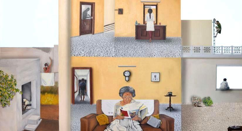 Art exploring 'home' through a woman's eyes.