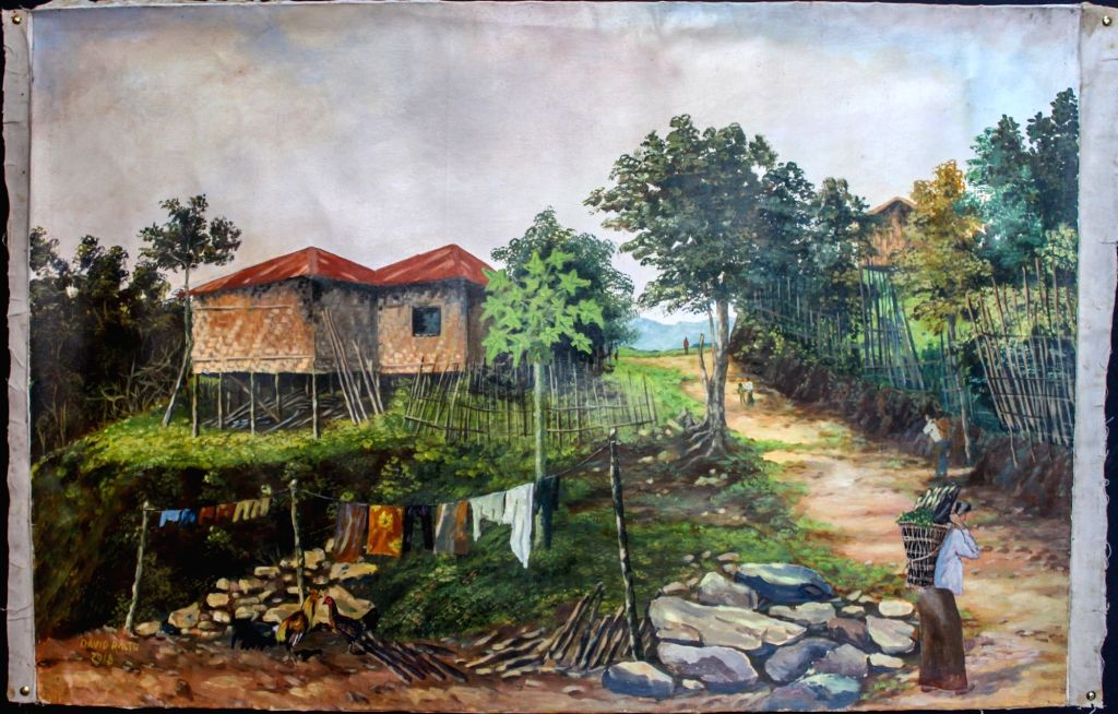 Art works by artists from Mizoram.
