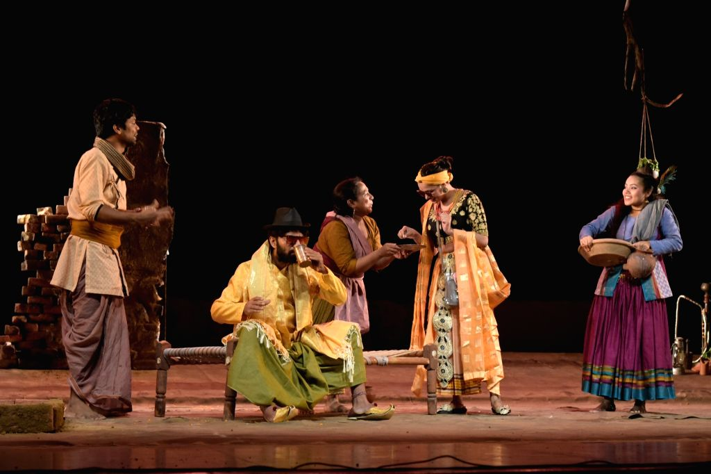 Artiestes perform during Mohan Rakesh Natya Samaroh annual theatre festival at Kamani Auditorium in New Delhi on Nov 12, 2019.