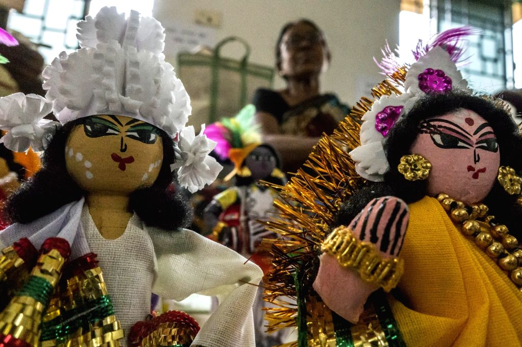 Artisans from different districts of West Bengal exhibit their creations during a workshop on traditional doll in Kolkata, on Aug 2, 2016.