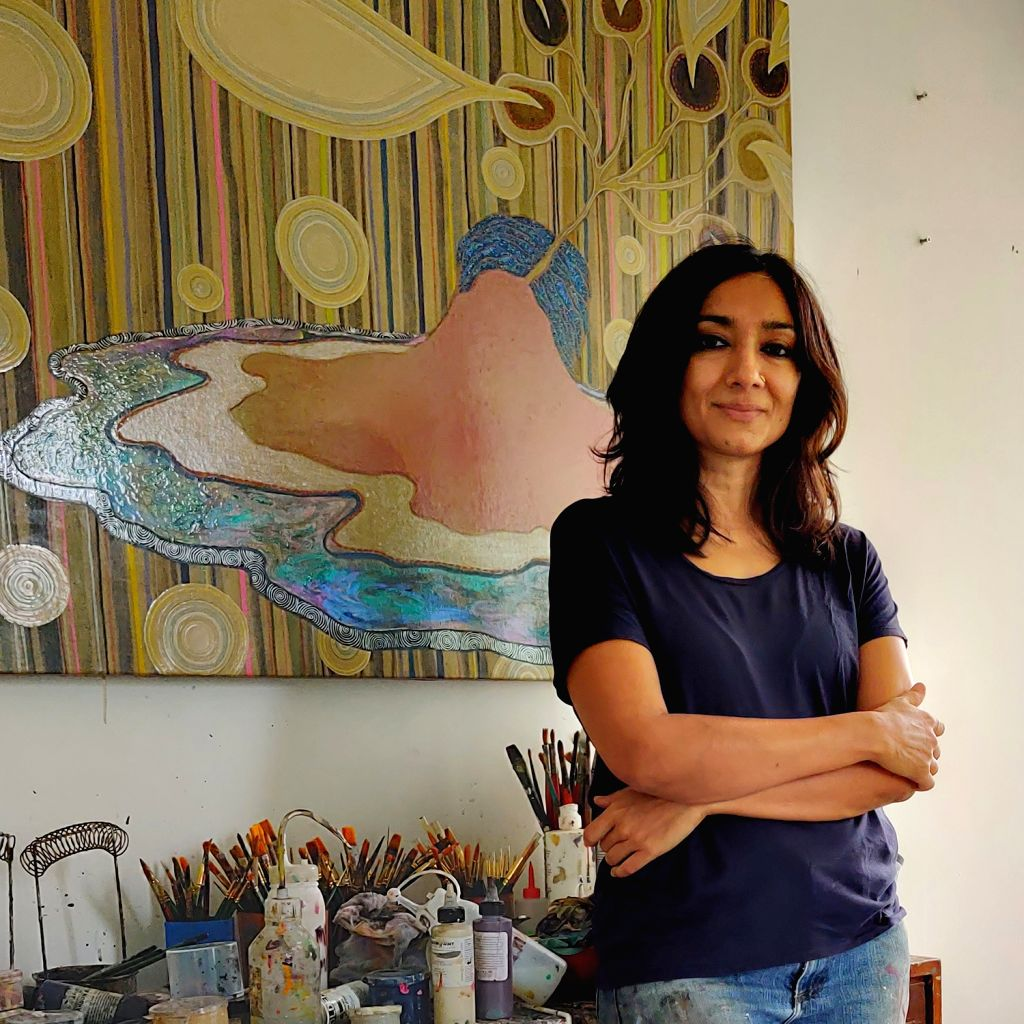 Artist Dhruvi Acharya. - Dhruvi Acharya