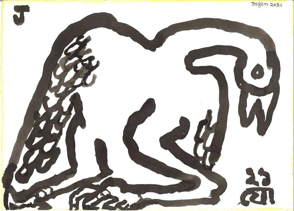 Artist Jogen Chowdhury. - Jogen Chowdhury