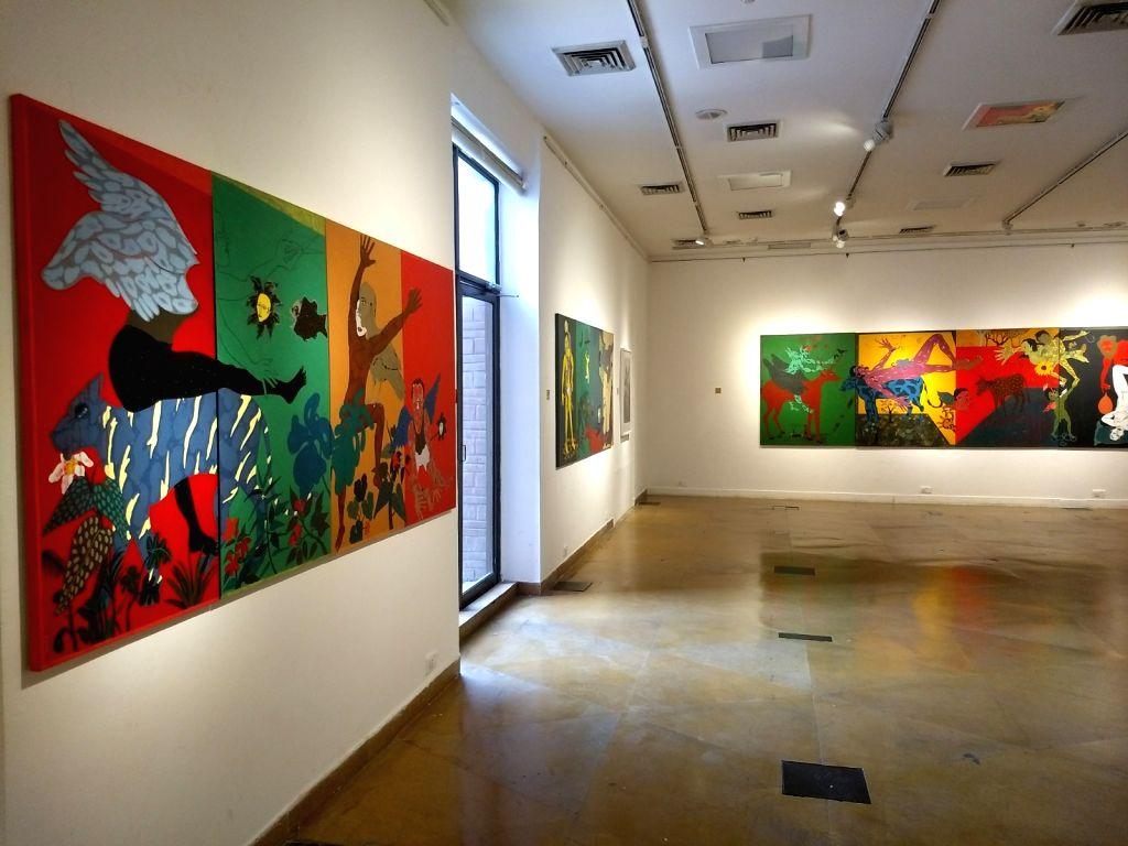 "Artist Mahmud Husain Laskar's ""Untold Stories"". (Photo Source: Mahmud Husain Laskar) - Mahmud Husain Laska"