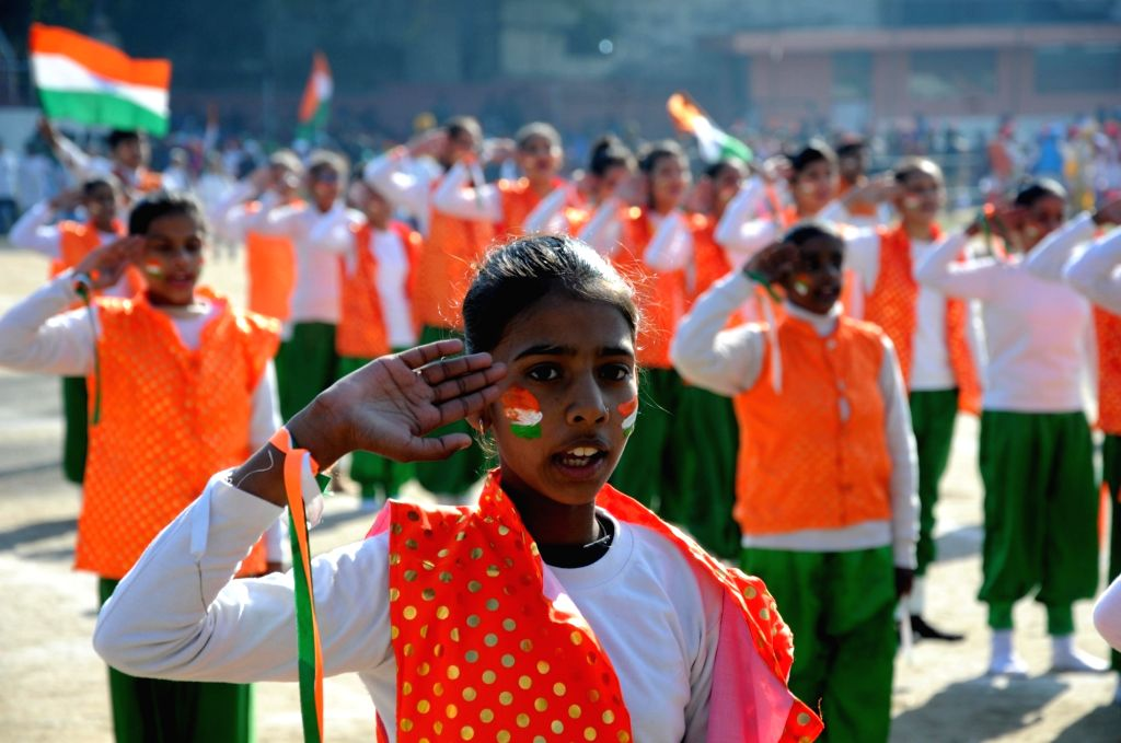 Artistes during full dress rehearsals for the Republic Day parade 2020, in Amritsar on Jan 24, 2020.