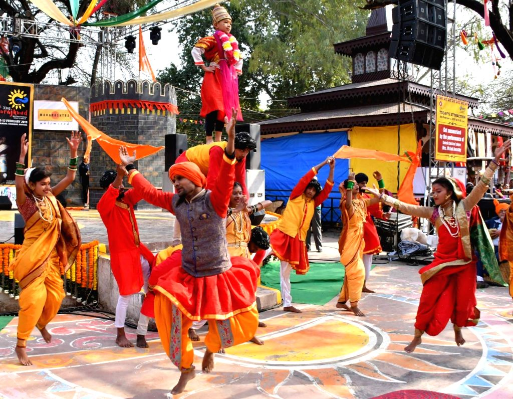 Artistes perform at the 33rd Surajkund International Crafts Mela in Haryana's Faridabad, on Feb 8, 2019.