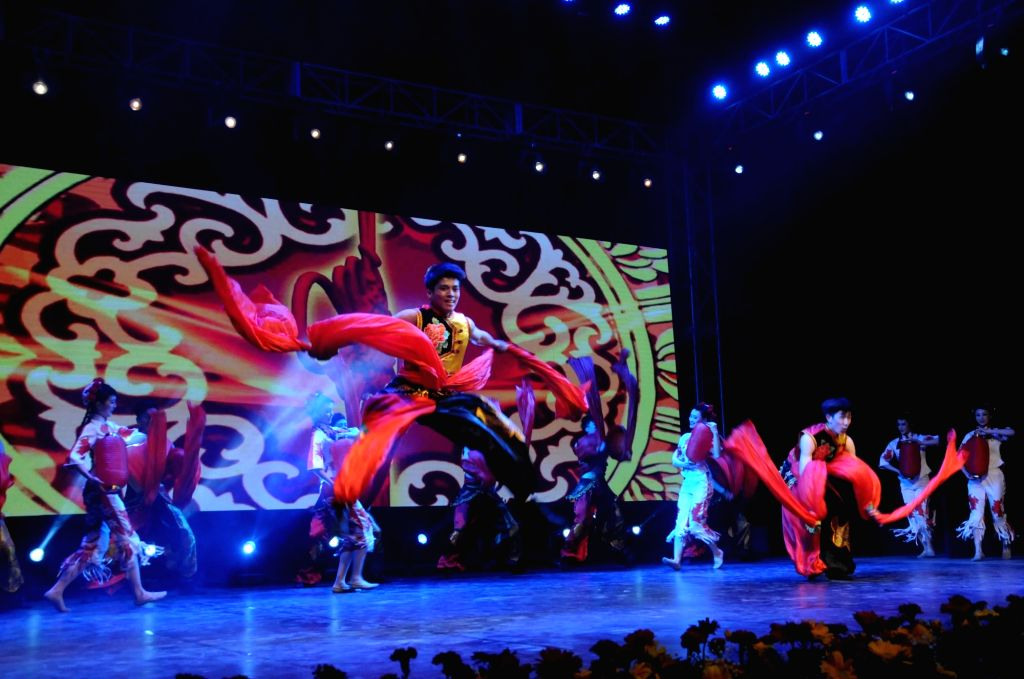 Artistes perform during a programme organised to celebrate Chinese New Year at Chinese Consulate of China in Kolkata on Feb 12, 2018.