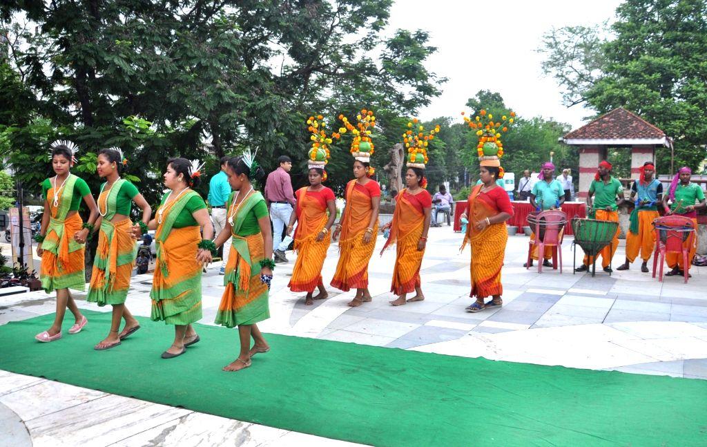 Artistes perform during BJP's 'Jan Jagran' programme on Article 370 in Kolkata, on Sep 27, 2019.