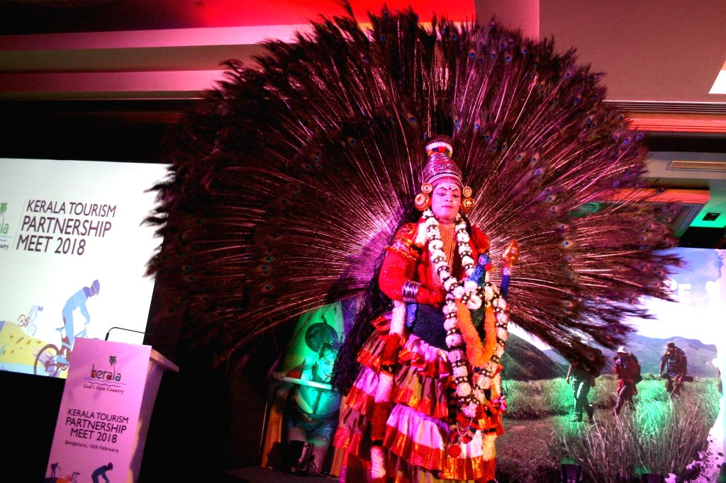 Artistes perform during Kerala Tourism Partnership Meet in Bengaluru on Feb 13, 2018.