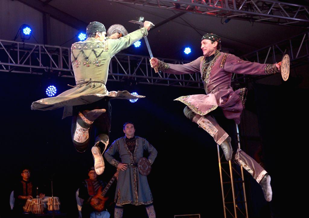 "Artistes perform during ""Synergy"" - an Indo-Georgian dance fest in Kolkata on Sept 15, 2017."