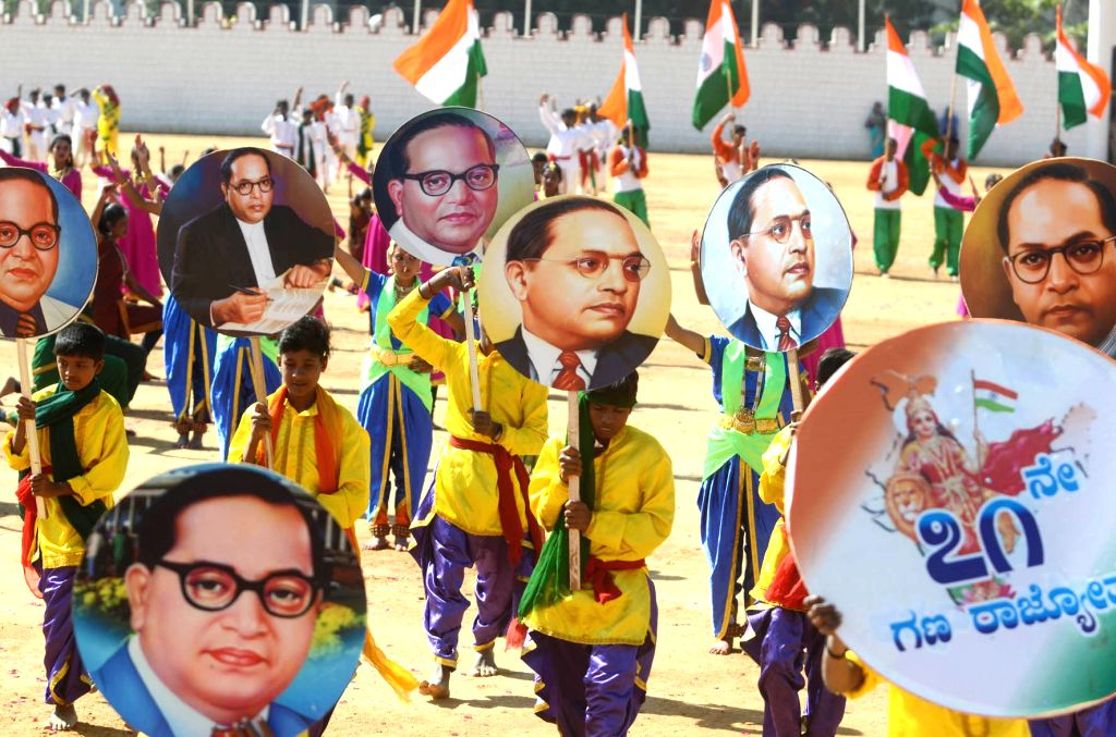 Artistes perform during the 71st Republic Day celebrations at Manekshaw Parade Ground in Bengaluru on Jan 26, 2020.