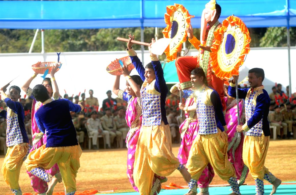 Artistes perform during the NCC Day celebrations in Mumbai, on Feb 7, 2019.