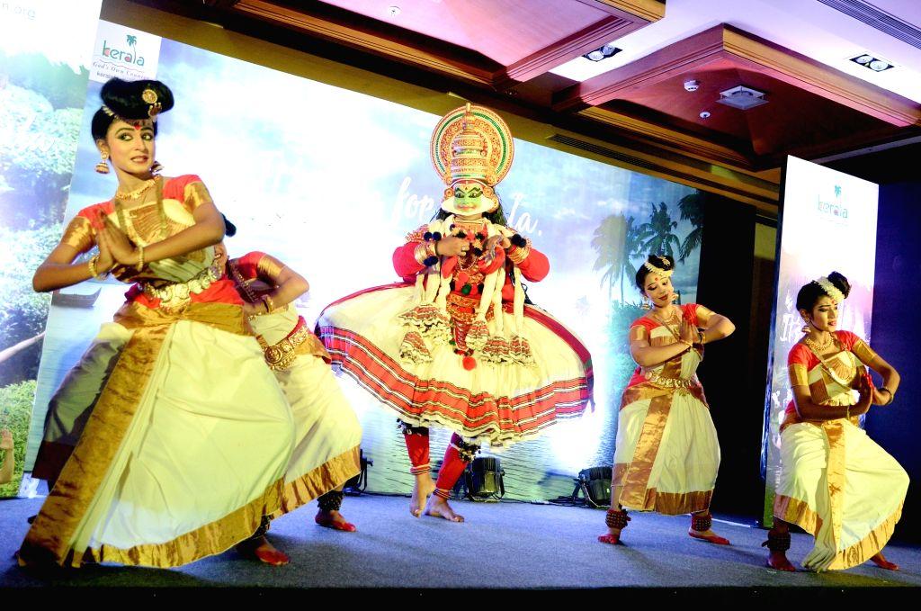 Artistes performs during a Kerala Tourism programme in Bengaluru on Feb 12, 2019.
