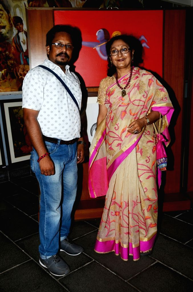 Artists Paramesh Paul and Nayana Kanodia during the opening preview of The Osian Group`s The Greatest Indian Show on Earth 2, in Mumbai on June 16, 2017.
