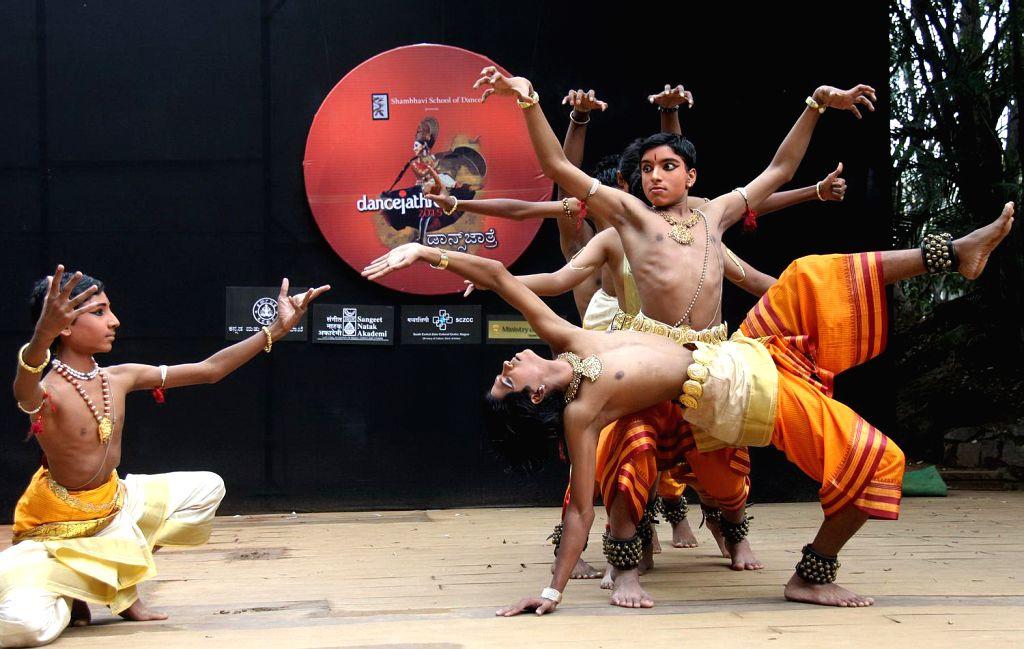Artists perform during a `Dancejathre 2015` (Dance Festival) in Bengaluru, on Nov 21, 2015.