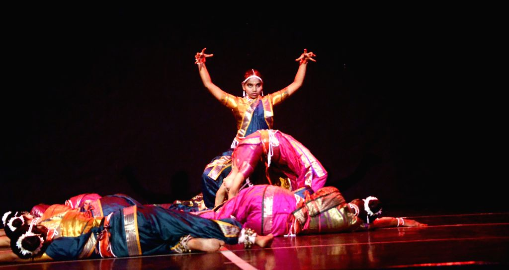 Artists perform during a programme at NCPA in Mumbai, on April 22, 2015.