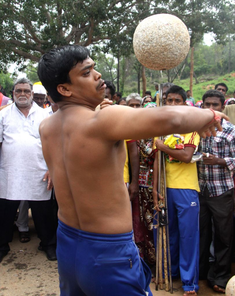 Artists perform during  inauguration of World Folklore Day celebrations at Kalagrama in Bangalore  on Aug 22, 2014.