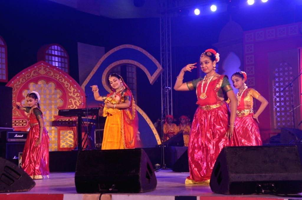 Artists perform during Lucknow Mahotsava on Nov 29, 2016.