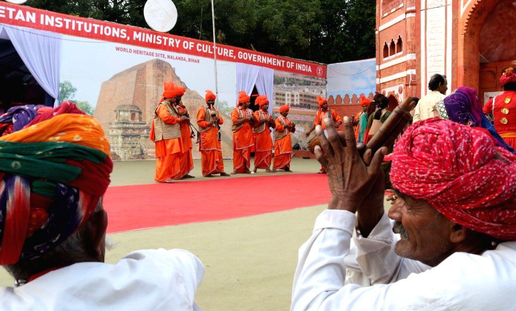 Artists perform during the concluding ceremony of Rashtriya Sanskriti Mahotsav 2016 in New Delhi, on Oct 24, 2016.