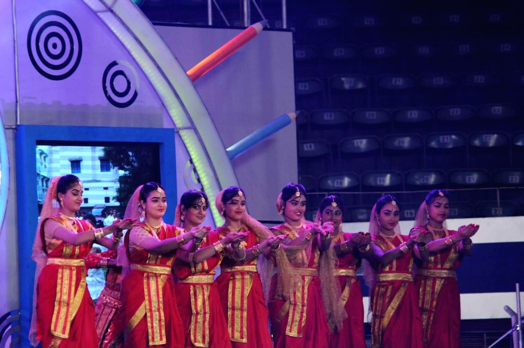 """Artists perform during the third anniversary celebrations of """"Kanyashree Prakalpa"""" - a CCT (Conditional Cash Transfers) scheme of the state government to improve the status and ..."""