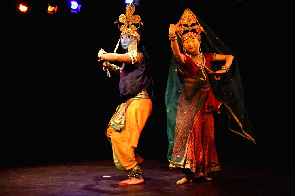 Artists perform during 'World Dance Day' - a programme in New Delhi on April 27, 2014.