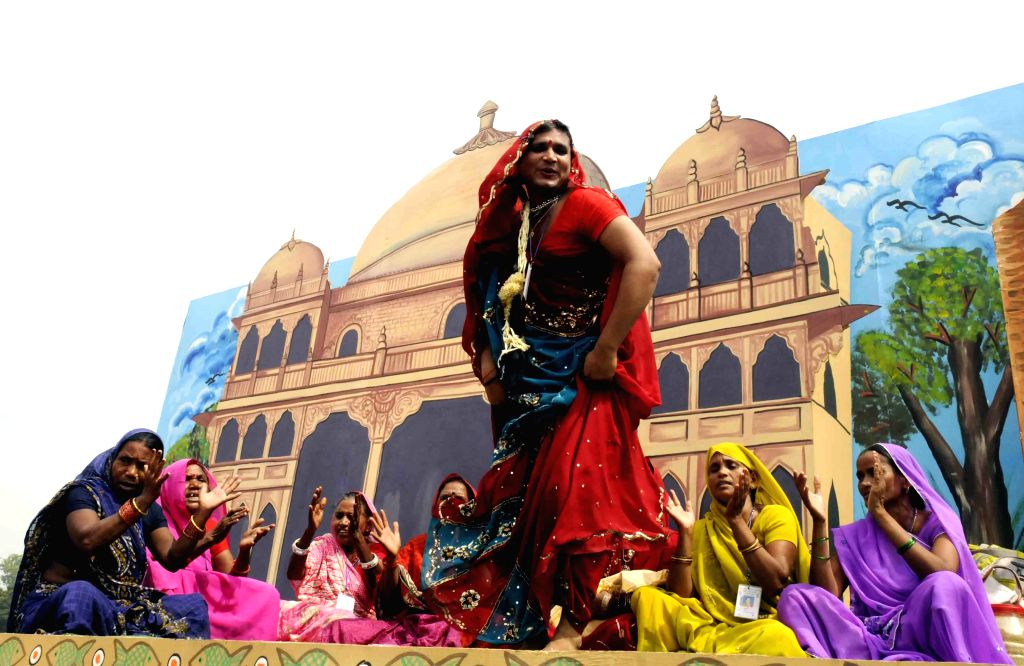 Artists performs on the occasion of 69th ``Independence Day`` celebration in Patna, on Aug 15, 2015.